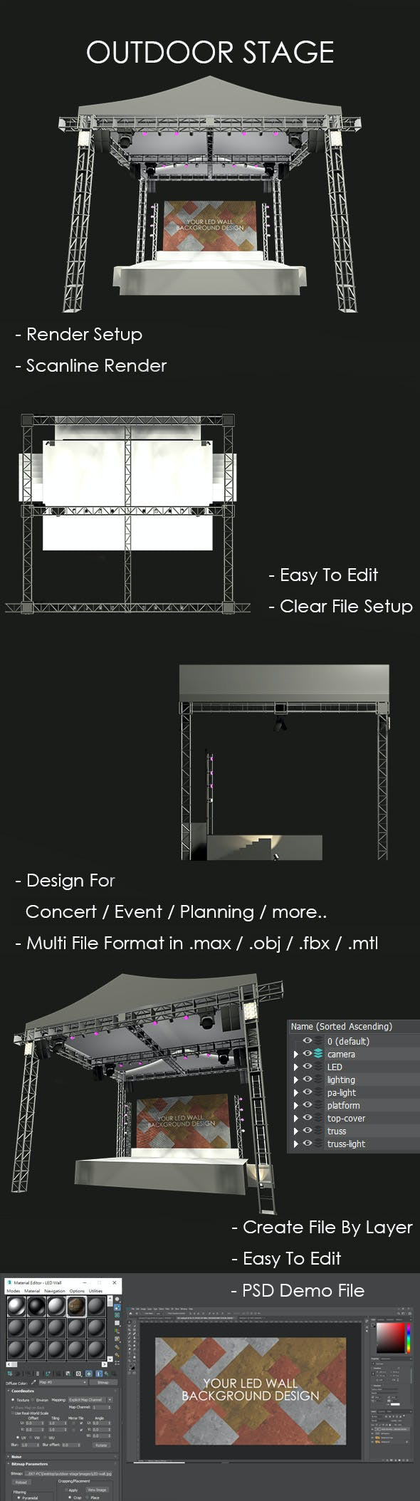 Outdoor Stage - 3DOcean Item for Sale