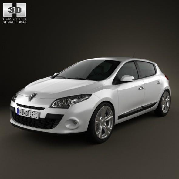 Renault Megane hatchback 2011 - 3DOcean Item for Sale