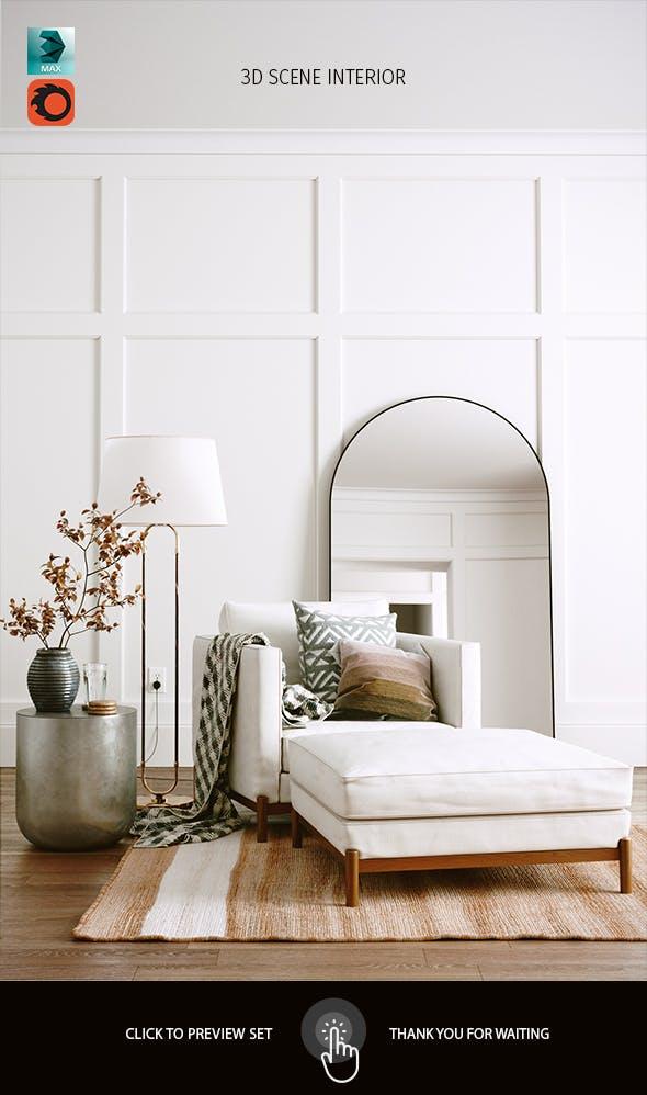 Realistic Interior Scene - 3DOcean Item for Sale