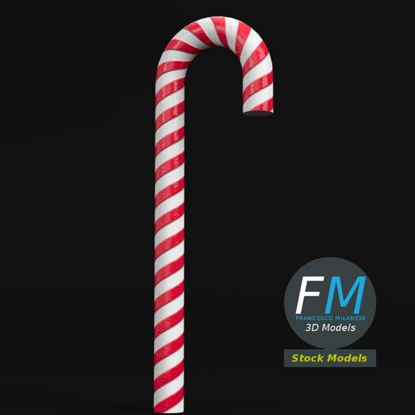 Striped candy cane - 3DOcean Item for Sale
