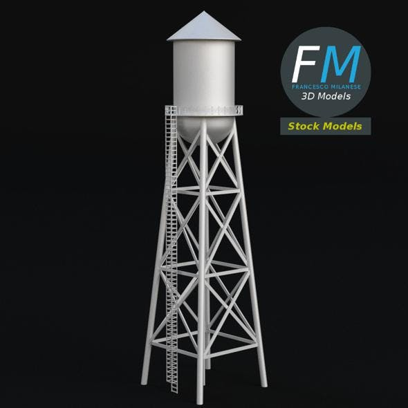 Water tower 2 - 3DOcean Item for Sale