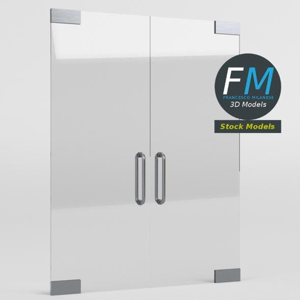 Frameless glass door - 3DOcean Item for Sale