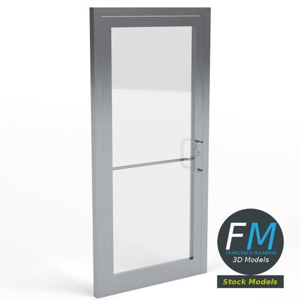 Storefront glass door - 3DOcean Item for Sale