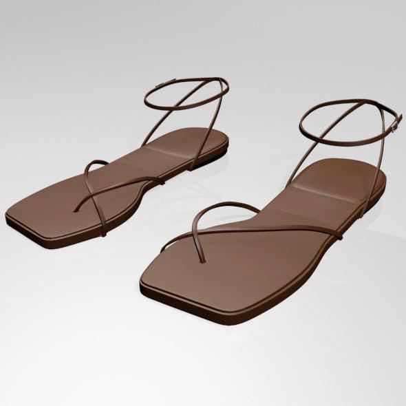 Toe-Loop Ankle-Strap Sandals 01 - 3DOcean Item for Sale