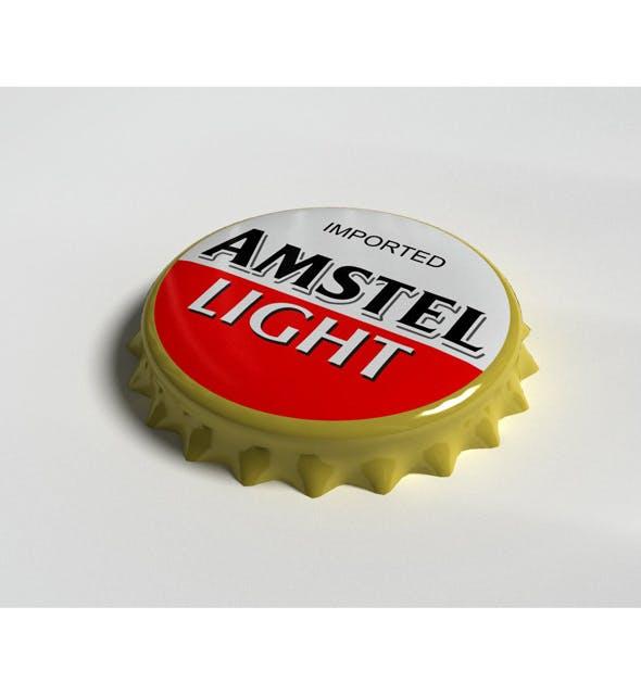 Amstel Bottle Tin Cap - 3DOcean Item for Sale