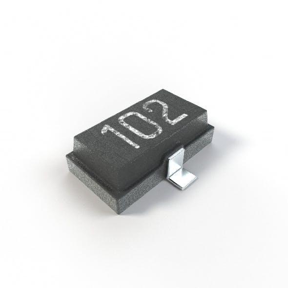 2K PBR Textured Transistor model