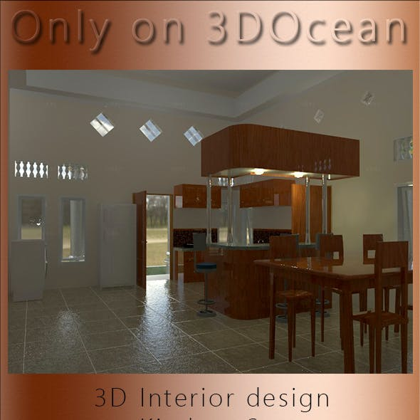 3D Interior design, Kitchen Set