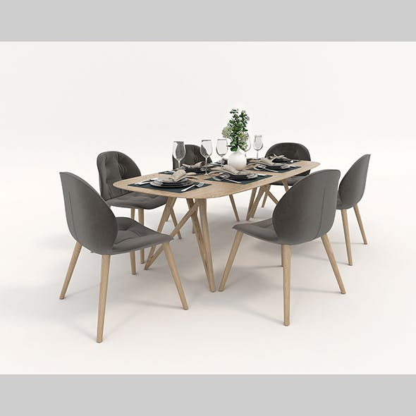 Contemporary Design Dining Set
