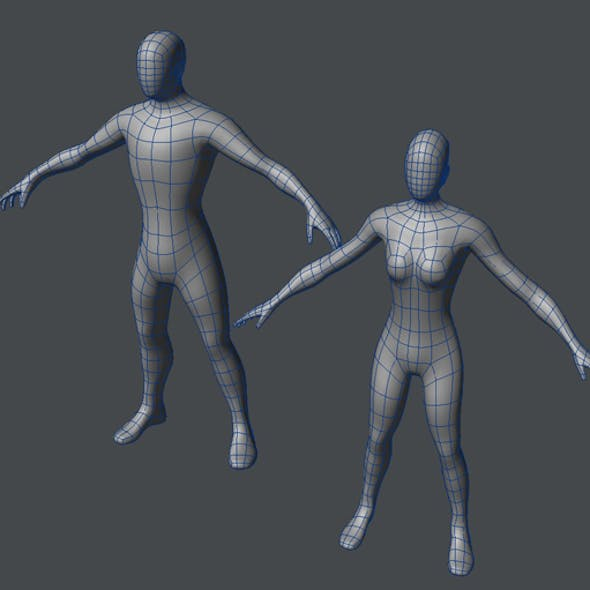Base Mesh Male and Female