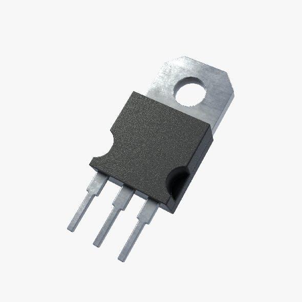 2K PBR Textured Transistor model 2