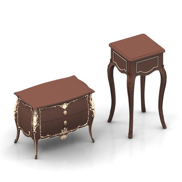 Chest of drawers and Nightstand set - 3DOcean Item for Sale