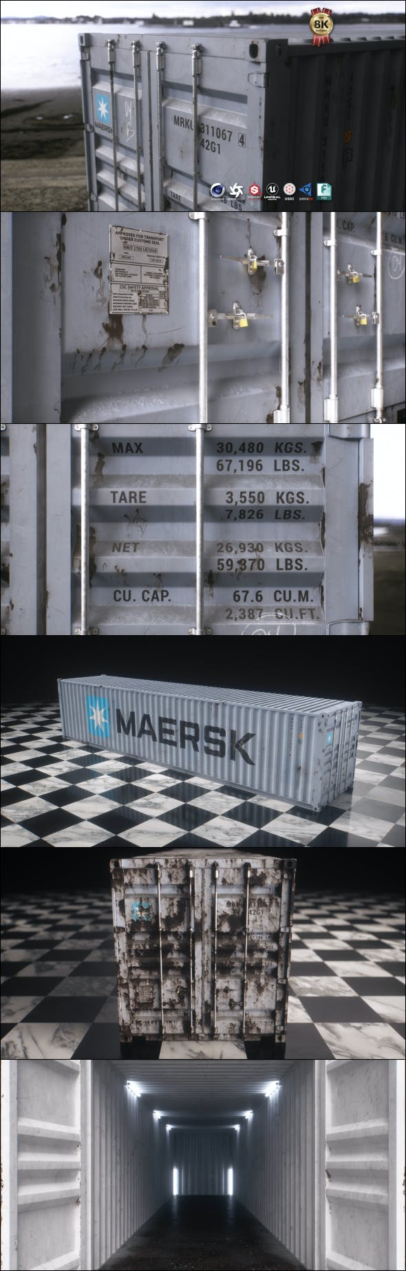 40 ft Shipping Container - 3DOcean Item for Sale