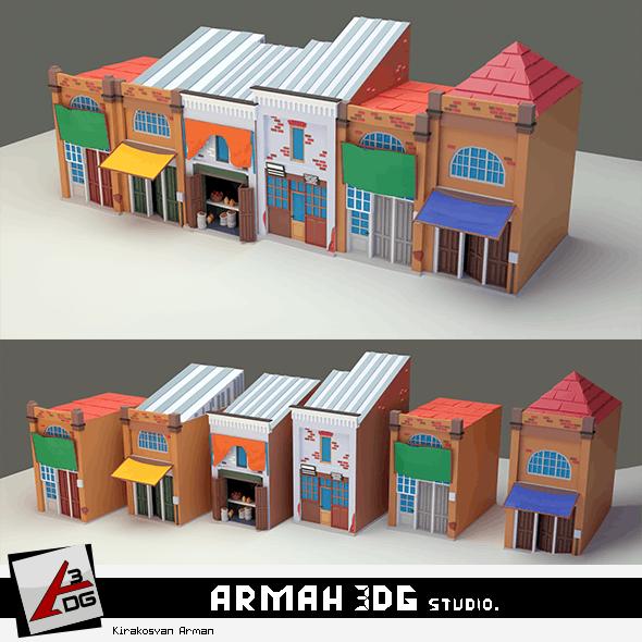 6 Home Meidan - 3DOcean Item for Sale