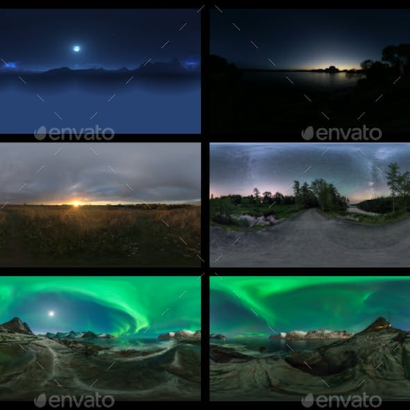 Environment Panoramas PACK #6 - Night Sky