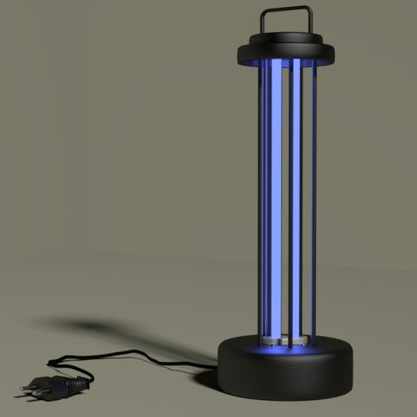 Ultraviolet germicidal antibacterial lamp - 3DOcean Item for Sale