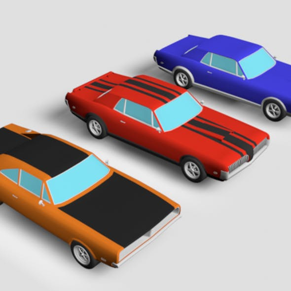 LowPoly Muscle Car Pack
