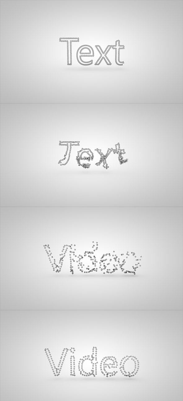 Text is created with the cubic moving - 3DOcean Item for Sale