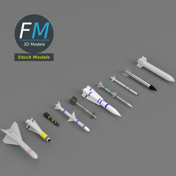 Missiles and bombs collection - 3DOcean Item for Sale