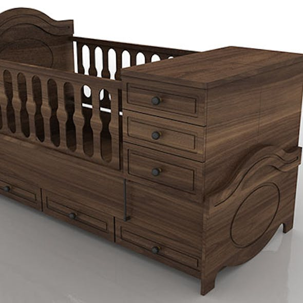 Extendable bed nursery baby furniture