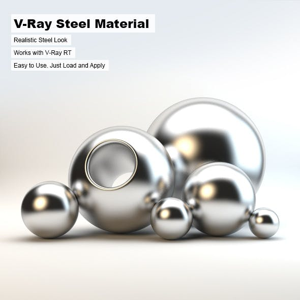 V-Ray Steel Material