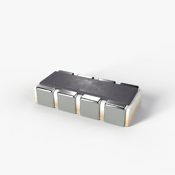 PBR SMD type Resistor model with 2K textures