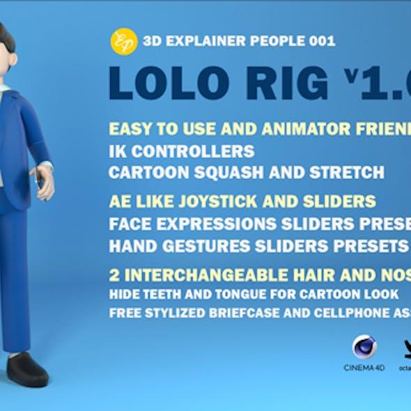 Lolo the stylized Businessman