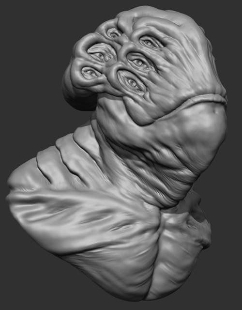 Alien Bust - 3DOcean Item for Sale