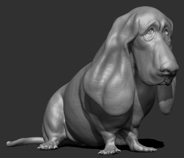 Dog Sculpt - 3DOcean Item for Sale