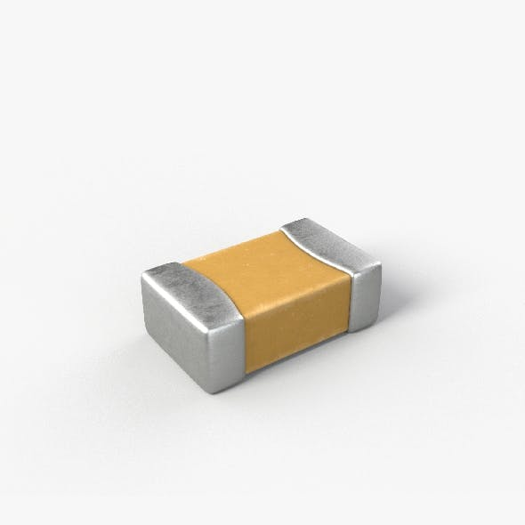 SMD Capacitor with 2K PBR textures