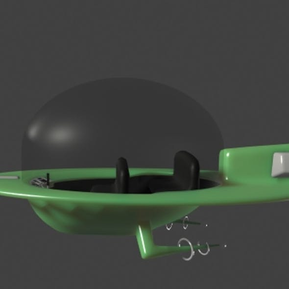Jetsons Cartoon Flying Jet Car