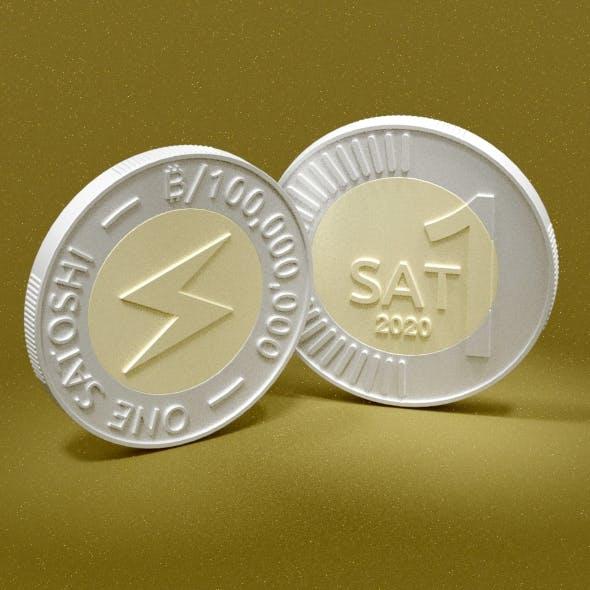 Satoshi Coin - One Bitcoin Satoshi