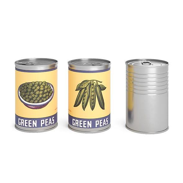 Green Peas Metal Cans - 3DOcean Item for Sale