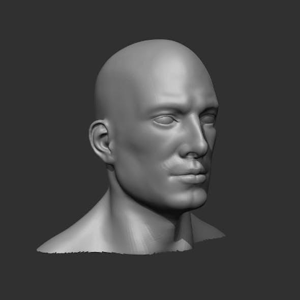 Male Head Realistic Base Mesh 3D Model