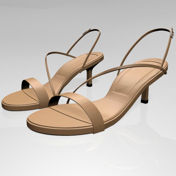 High-Heel Strappy Sandals 01 - 3DOcean Item for Sale