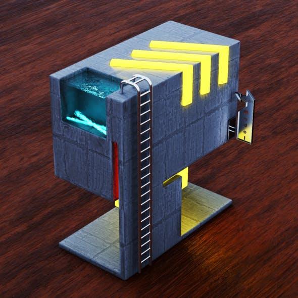 Realistic Isometric Architectural Maquette 3D Model