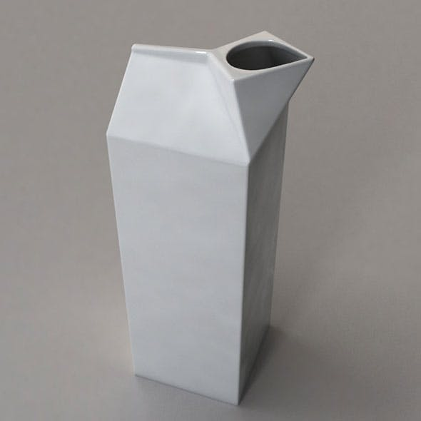 Milk Box Porcelain - 3DOcean Item for Sale