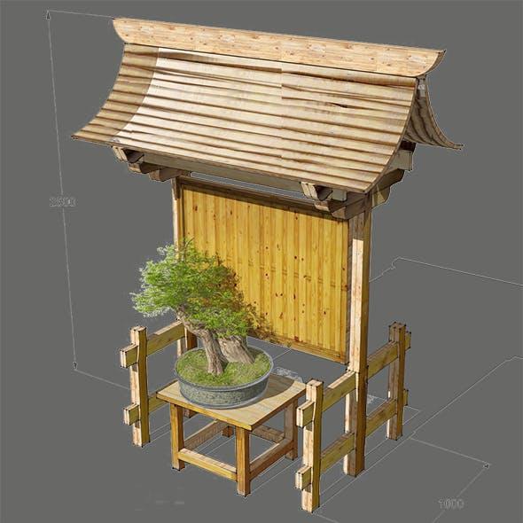 Japan Garden Gate Bonsai Traditional