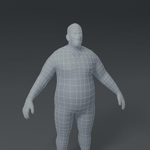 Male Body Fat Base Mesh 3D Model