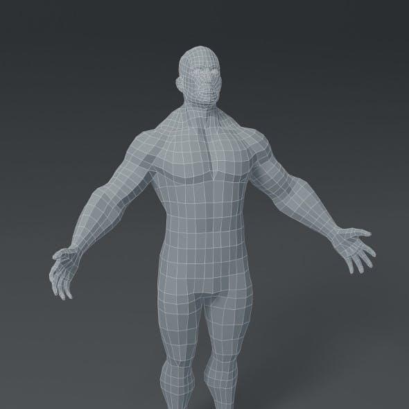 Superhero Male Body Base Mesh 3D Model