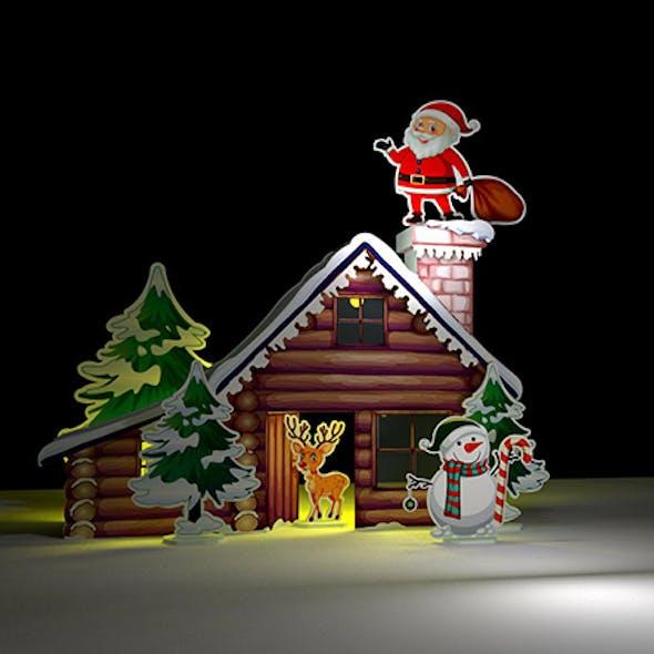 Christmas Santa Claus Home Handmade