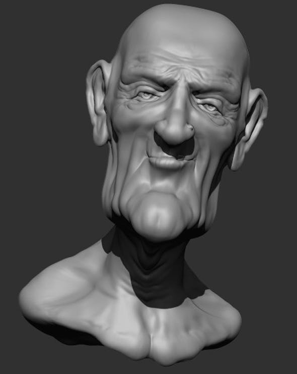 Old Man2 Bust - 3DOcean Item for Sale