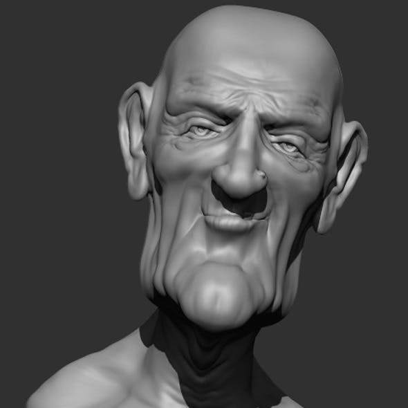 Old Man2 Bust