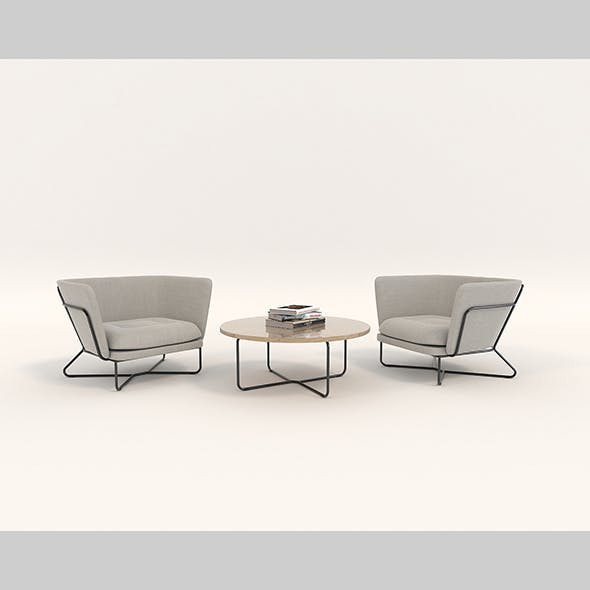 Modern Table and Chair Set 5
