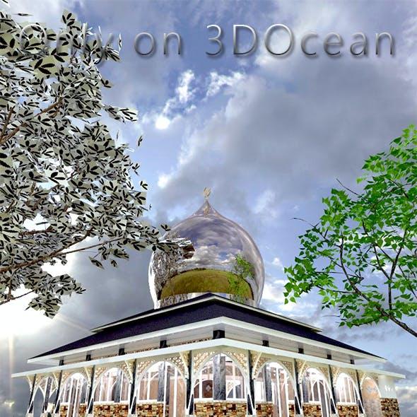 3D Design of Mosque