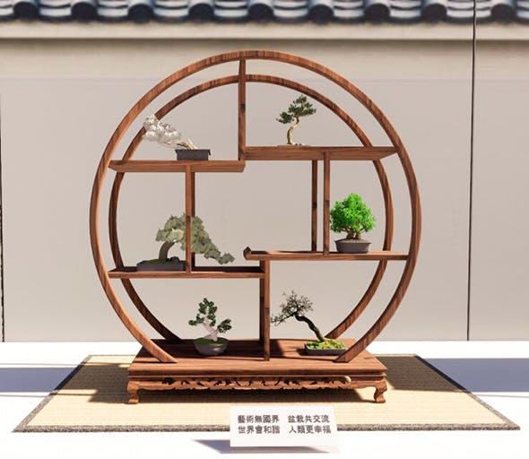 Bonsai Shelf 3 - 3DOcean Item for Sale