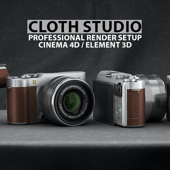 Cloth Studio Render Setup for Cinema 4D & Element 3D