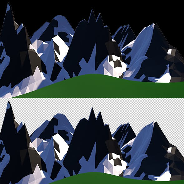 Low Poly plains and mountains