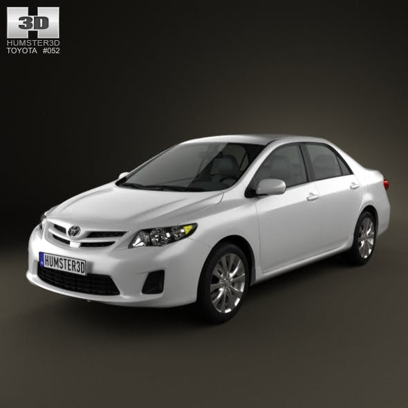 Toyota Corolla LE 2012 - 3DOcean Item for Sale