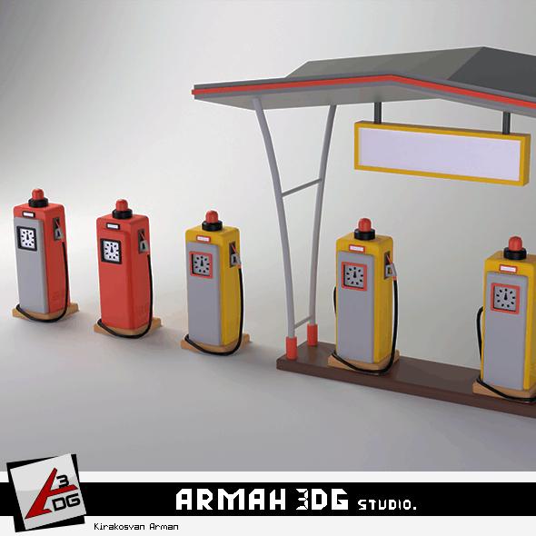 Petrol station - 3DOcean Item for Sale
