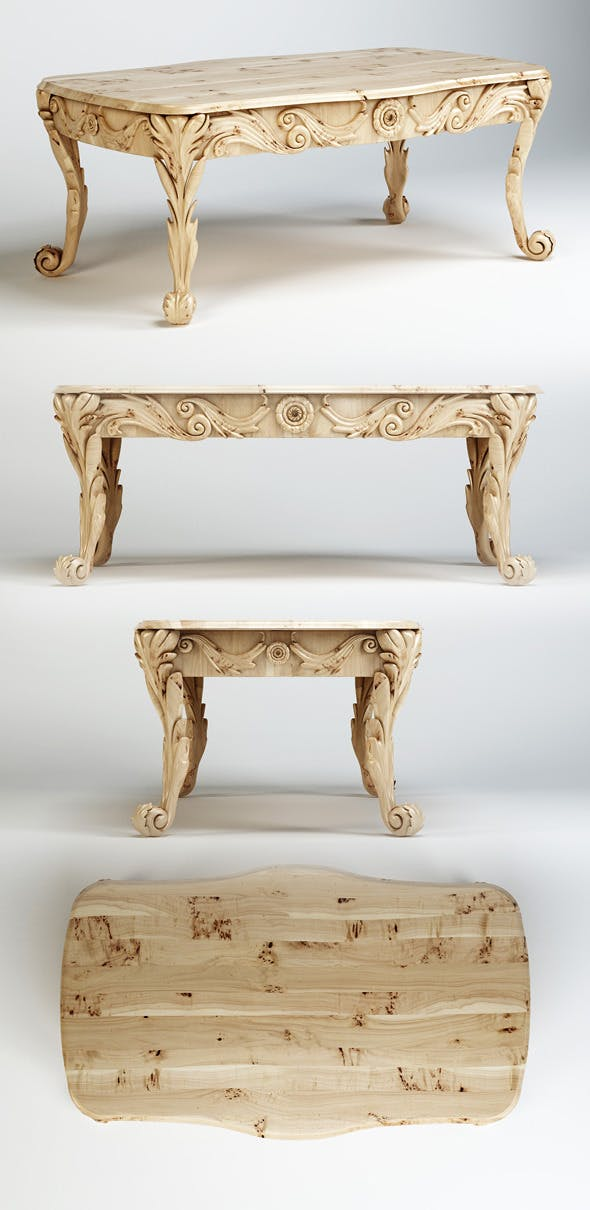 Quality 3dmodel of classic table - 3DOcean Item for Sale